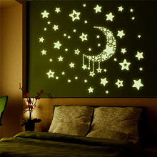 купить 50 pcs diy 3D Stars Glow In The Dark Wall Stickers Luminous Fluorescent Wall Stickers For Kids Baby Bedroom ceiling Home Decor по цене 119.19 рублей