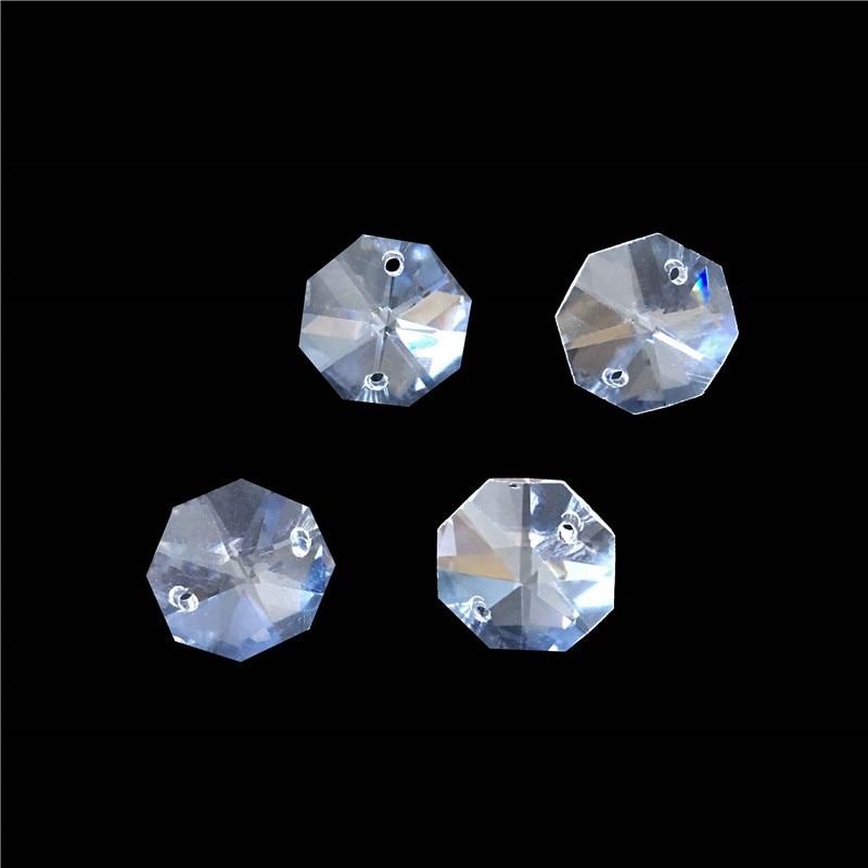 Горячая Распродажа! с 700 шт/партия 20 мм Восьмиугольные Кристаллы с 2 отверстиями, прозрачный цвет