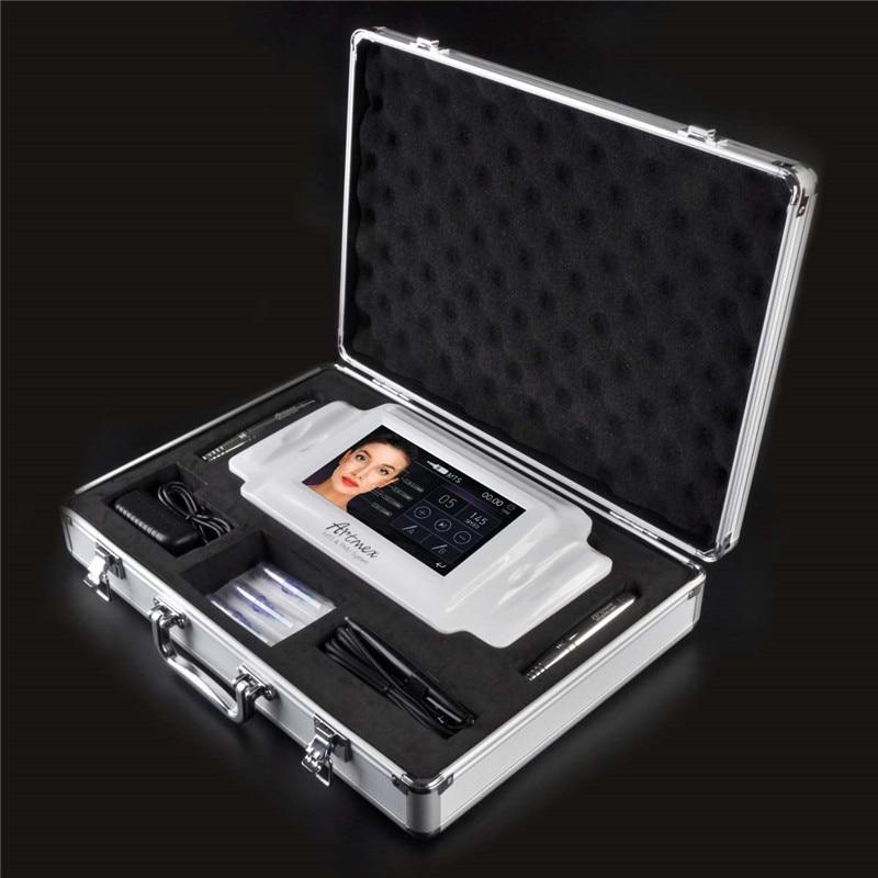 Permanent Makeup Tattoo Machine Digital Electric Eye Brow Lip Rotary Pen MTS PMU System Makeup Machine 100-240V AC