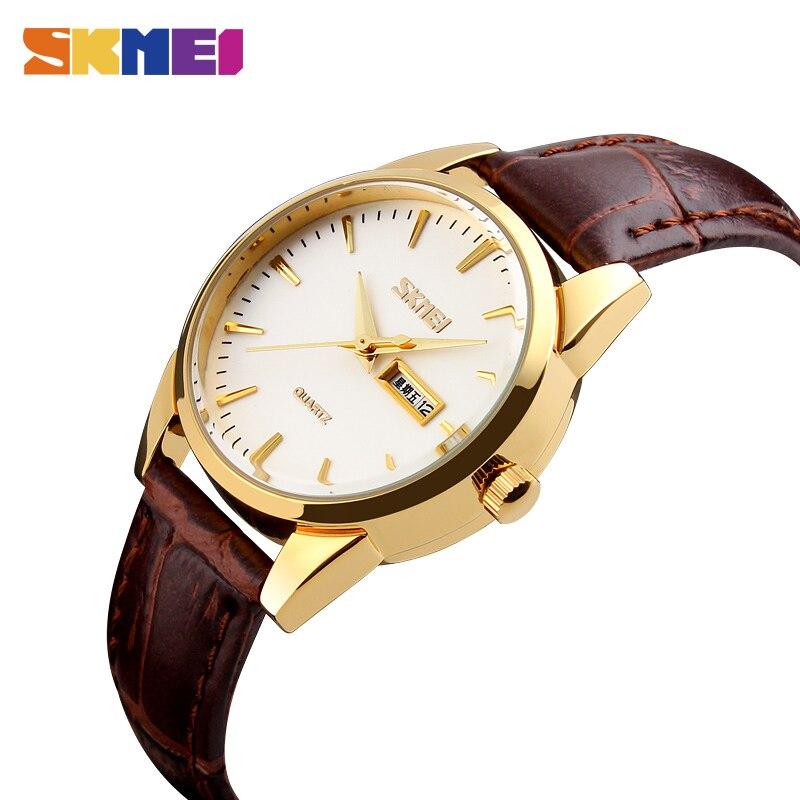 SKMEI Men Quartz Wristwatches Classic Business Watch Leather Strap Waterproof Watches Mens Clock Dress Relogio Masculino xfcs