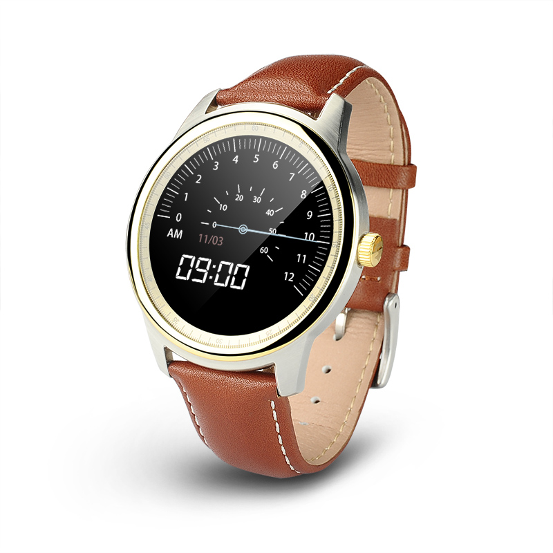 Original DM365 Bluetooth 4.0 Smart Watch MT2502A 360*360 IPS full view & Leather Strap Pedometer Sleep Monitor for IOS & Android  бетоносмеситель herz dm 360