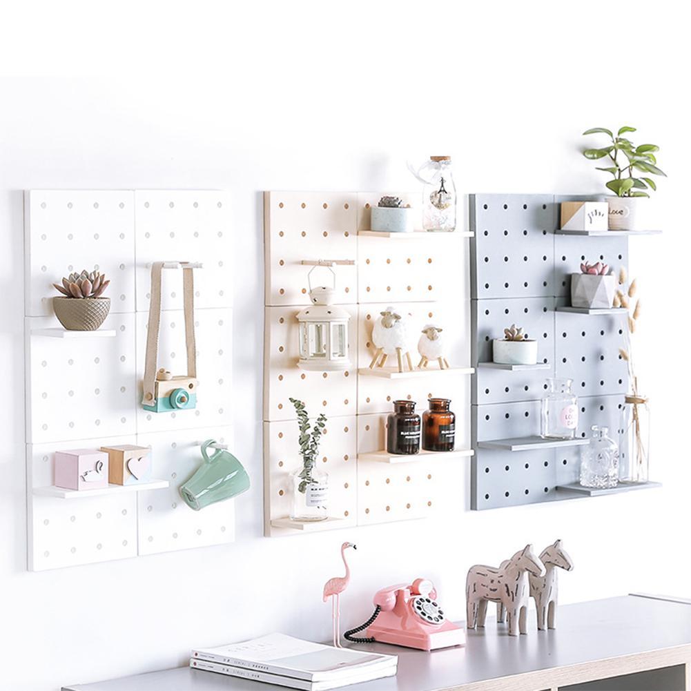 LanLan Stylish Plastic Peg Board Wall-mounted Storage Shelf Kitchen Hone Decoration