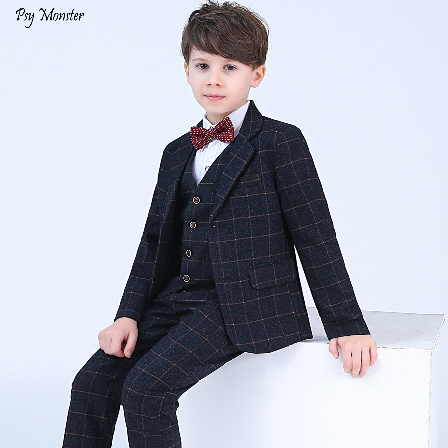 Formal Children 4pcs Dresses Suits Set Flower Boys Wedding Piano Performance Prince Costume Kids Blazer Shirt Pant Bowite OutfitFormal Children 4pcs Dresses Suits Set Flower Boys Wedding Piano Performance Prince Costume Kids Blazer Shirt Pant Bowite Outfit