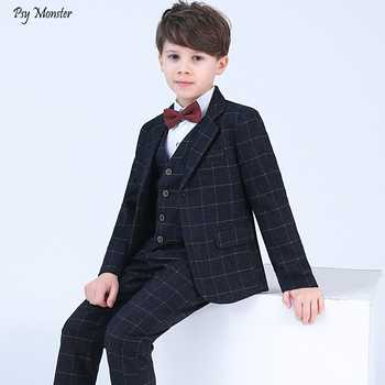 Formal Children 4pcs Dresses Suits Set Flower Boys Wedding Piano Performance Prince Costume Kids Blazer Shirt Pant Bowite Outfit - DISCOUNT ITEM  29% OFF All Category