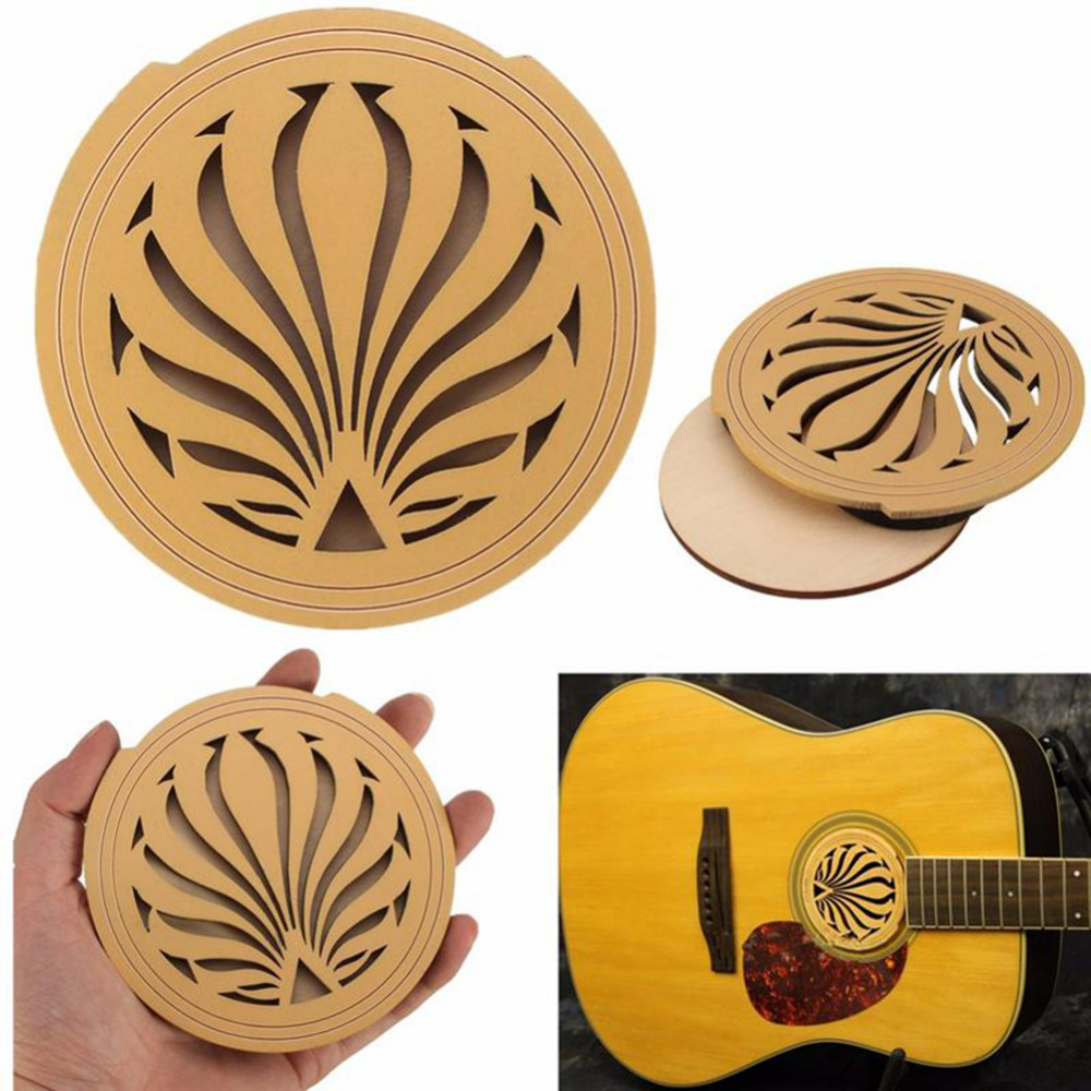 41 Acoustic Guitar Hole Sound Cover Guitarra Feedback Buster Soundhole Cover Solid Wood Sound Buffer Hole Protector Halt Mute high quality solid wood guitar 41 inch spruce wood panel acoustic guitar guitarra free shipping