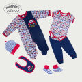 Mother's Choice 100% cotton Baby long-sleeve rompers set 6-in-one Free shipping