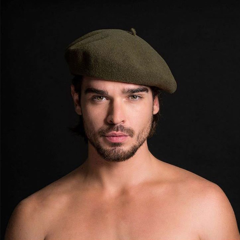 2018 New European American Style Wool Beret Winter Men's Formal Wear Professional Casual Dualuse Cap High Quality Male Hat Hot
