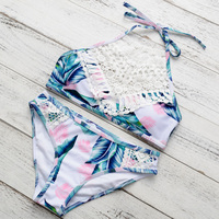 Bonitakinis Brand Swimsuits Lace Biquini Bikinis Set Women Swimming Wear Brazilian Bathing Suits Bohemia Cropped Top
