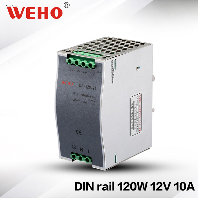 (DR-120-12) Stable DC voltage source Din rail 12v 10a switching power supply 120w din rail power supply