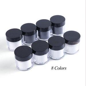 Image 5 - 1 Box czarny biały paznokci Glitter zanurzenie proszek błyszczący Pigment pył Laser cukier Nail Art cekiny Glitters dekoracje Manicure TRMN