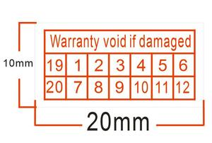 Free shipping for 1000pcs/lot Warranty sealing label sticker void if damaged, with 19/20 years and months, 2x1cm