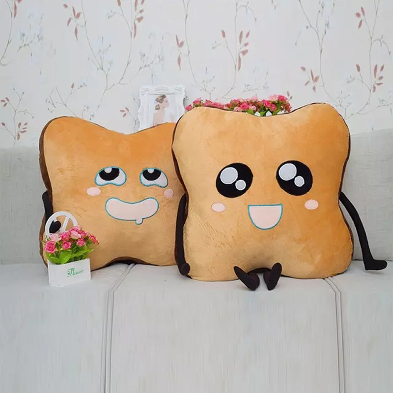 2016 Creative cartoon bread plush toy doll cute pillow sliced bread, toast cushions, free shipping! 1pc 40cm creative plush toast bread pillow toy stuffed bread cushion funny toast bread pillow for pets birthday gift decoration