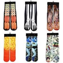 2018 New Fashion Men/Women 3d Funny Harajuku Sock Sushi/Meat/Superman/Athletes Star Printed Socks Warm Brand Unisex
