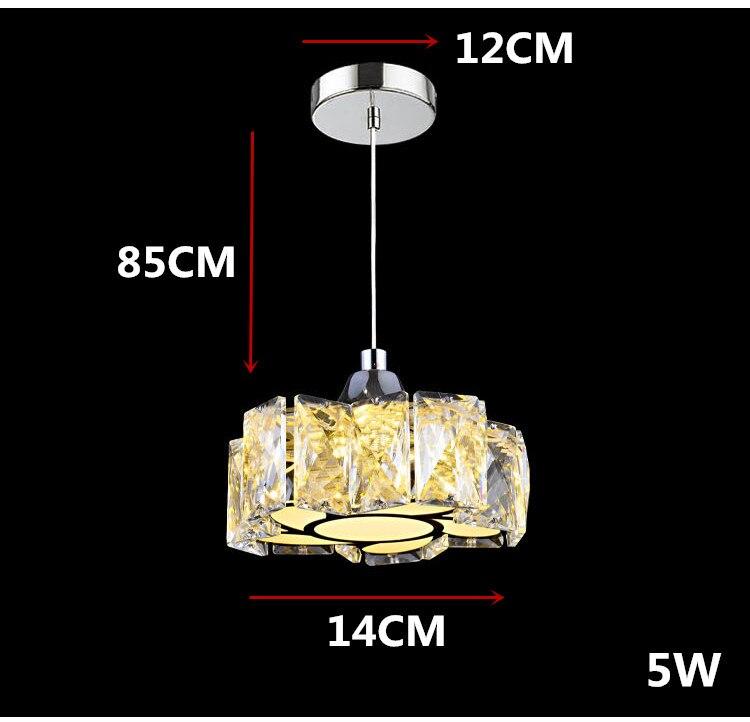 Простой светодиодный хрустальный канделябр для ресторана светодиодный светильник из нержавеющей стали светодиодный канделябр мощный светодиодный светильник - Цвет абажура: Белый