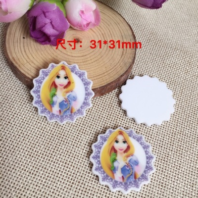 31*31mm flat back planar resin princess flatback planar resins for kids diy decoration crafts accessories 10pieces