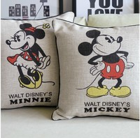 2pcs Lot Mickey Mouse Pillow Covers Cushion Cover Decorative Pillow Case Kids Love Wedding Giftmickey His