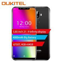 OUKITEL U18 5,85 «полный дисплей Мобильный телефон Mt6750t Восьмиядерный Android 7,0 4g Ram 64g Rom 4000 mah распознавание лица сканер отпечатков пальцев Смартфон