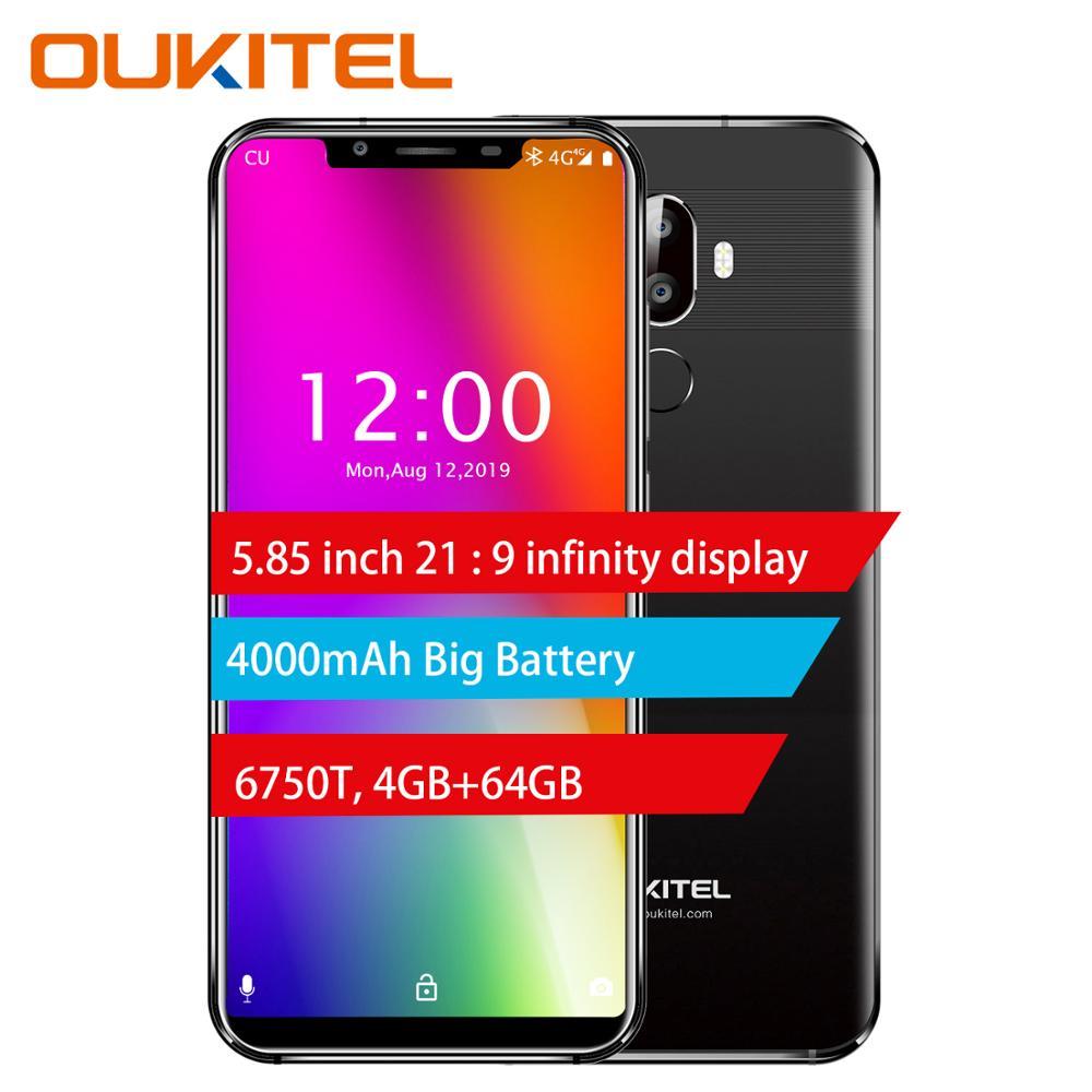 Téléphone portable à affichage complet OUKITEL U18 5.85