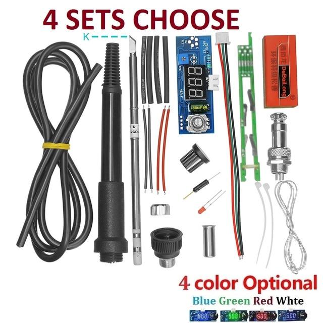 Unidade elétrica Ferro De Solda Estação de Controlador de Temperatura Digital DIY Kits para HAKKO T12 Lidar Com LED interruptor de vibração dicas kits