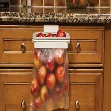 New Cupboard Door Back Trash Rack Storage Garbage Bag Holder Hanging Kitchen Cabinet kitchen Tools Freeship