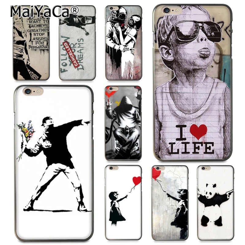 Maiyaca Street Art Graffiti Art Graffiti Coque Phone Case untuk iPhone 11 Pro XR X MAX 8 7 6 6S PLUS X 5 5S SE