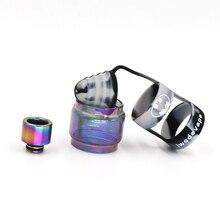 Acessórios Manta iwodevape Ecigs RTA Rainbow gordura tubo de vidro + cap banda vape + Rainbow ponta Gotejamento ponta Gotejamento