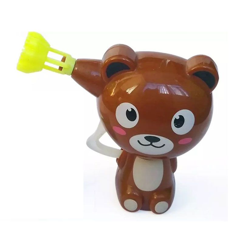 Kids Cartoon Animal Model Soap Water Bubble Gun Blower Machine Toy Gift