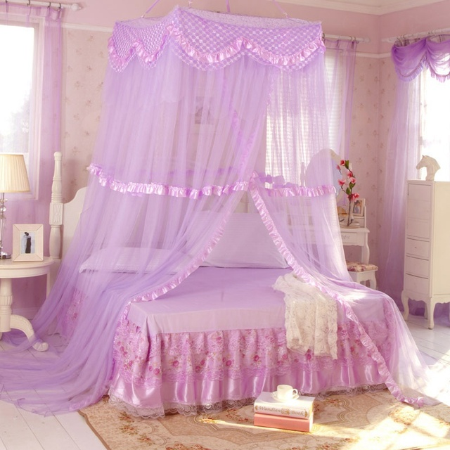 Best Selling Summer Princess Bed Tent Elegant Lace Canopy Bed Curtains Dossel Netting Single Door Foldable Mosquito Net
