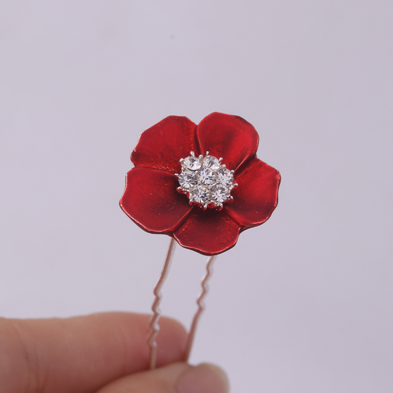 be249560d Sellsets Fashion Bridal Hair Jewelry Wholesale Mix 100pcs Red Flower Hair  Pin Crystal Hair Accessories For Women Wedding Gifts-in Hair Jewelry from  Jewelry ...