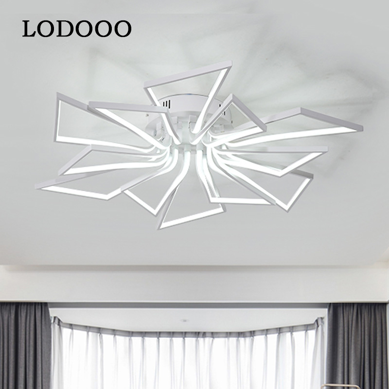 Ceiling Lights Led Lamp Ceiling Lustre Remote Control Dimming Lighting Fixture Living Room Bedroom Dining Room Brown/White coffee white led ceiling lights led lamp ceiling lustre remote control dimming lighting fixture living room bedroom dining room