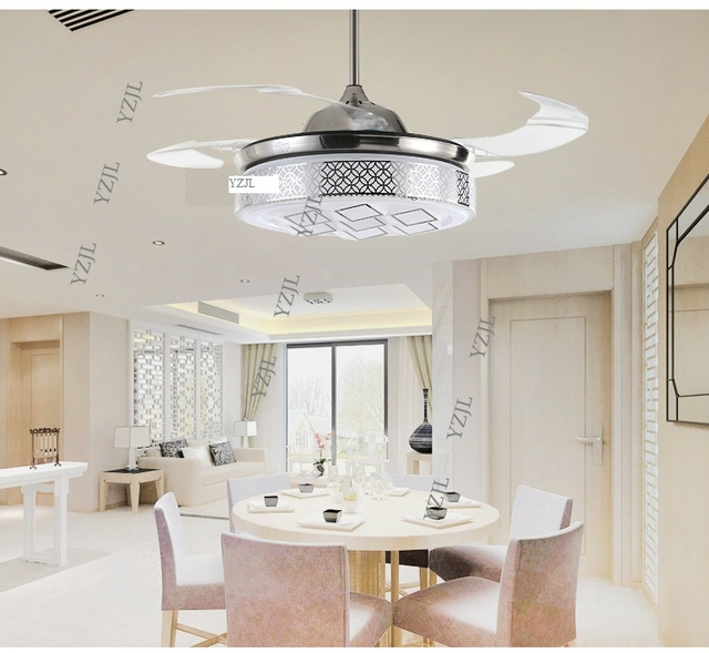 abs led lumières ventilateur ventilateur de plafond lampe lumière ... - Ventilateur De Plafond Pour Chambre