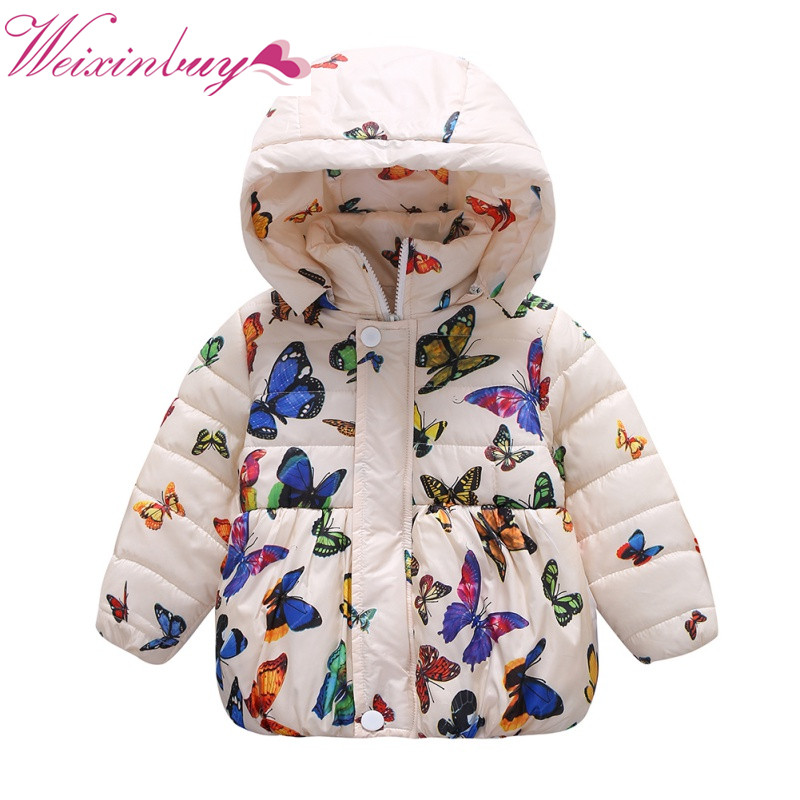 6f08b7d6c03 Winter Girls Baby Girls Coats Jackets Children Outerwear Cotton Hooded  Winter Coats For Girls Clothes Jacket Thick Coat