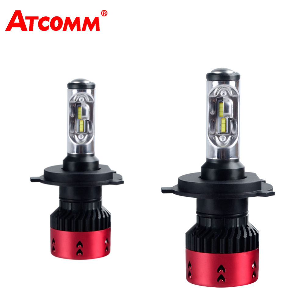 ATcomm LED H1 H7 16000Lm Turbo Mini Canbus Car Headlights Bulb H3 HB3 HB4 HIR2 H15 12V 6500K 70W 24V H4 H11/H8/H9 Auto Fog Light