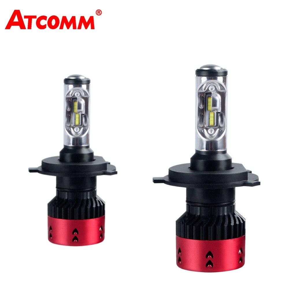 ATcomm LED H1 H7 16000Lm Turbo Mini Canbus Car Headlights Bulb H3 HB3 HB4 HIR2 H15 12V 6500K 70W 24V H4 H11/H8/H9 Auto Fog Light