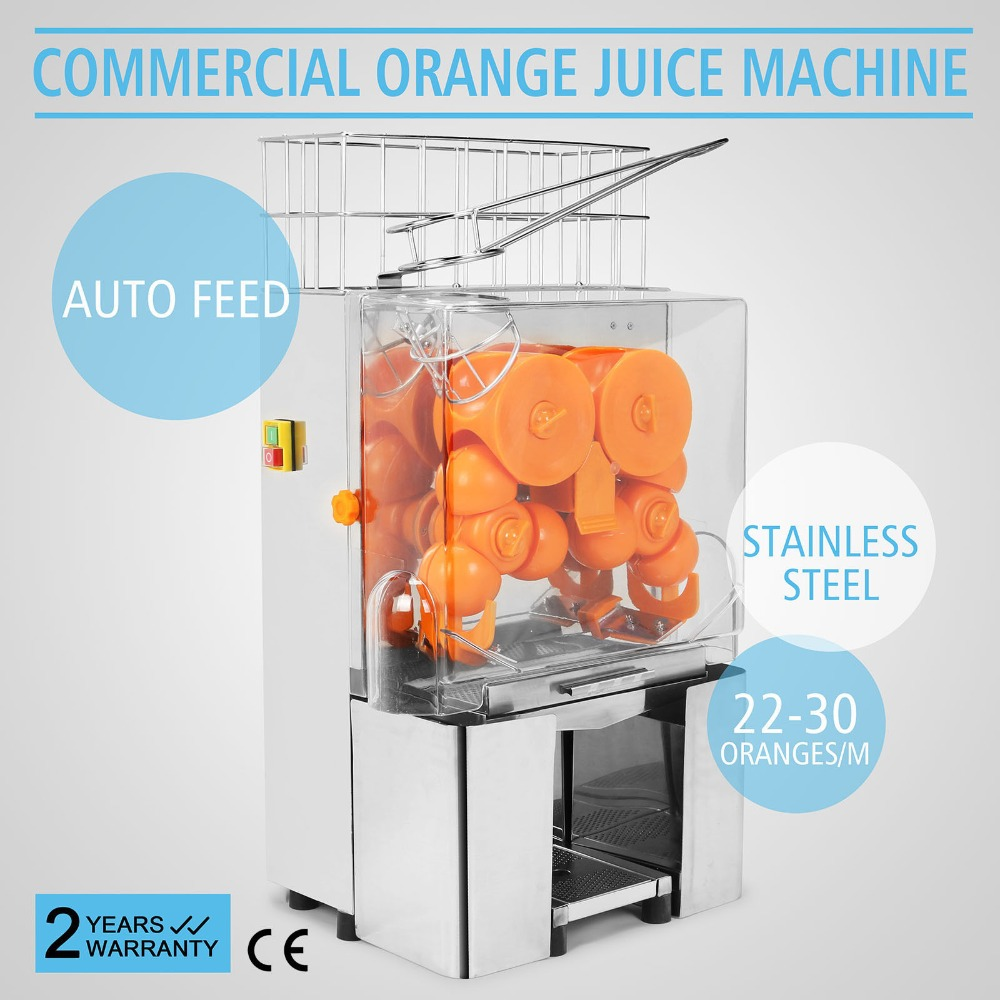 Industrial Automatic Fruit Sugarcane Orange Juicer Machine Household And Commercial Stainless Steel And PC Plastic 120W