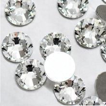 Супер предложение, блестящие 1440 шт. от SS3 до SS10 стразы, прозрачные кристаллы, 3D украшение ногтей, плоские стразы(China (Mainland))