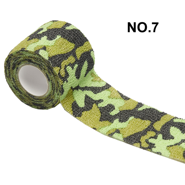 1 Roll 5*450cm Disposable Self-adhesive Flex Elastic Camouflage Bandage Tattoo Handle Grip Tube Wrap Elbow Stick Medical Tape 4