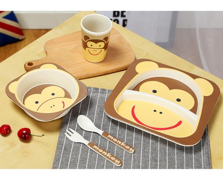 shentaotao Multifunktions Kinder L/öffel Und Gabeln Nette Baby-Feeding Geschirr Set 2 St/ück Set Wei/ß