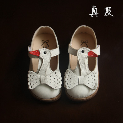 2016 new arrival kids summer autumn shoes Girls fashion single shoes little Swan cute PU shoes Oxford bottom leather shoes