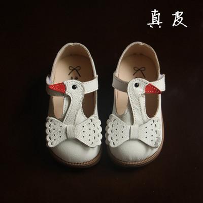 2016 nuevos niños de la llegada zapatos otoño Niñas solos zapatos de moda de verano pequeño Cisne lindo PU zapatos Oxford zapatos de cuero de fondo