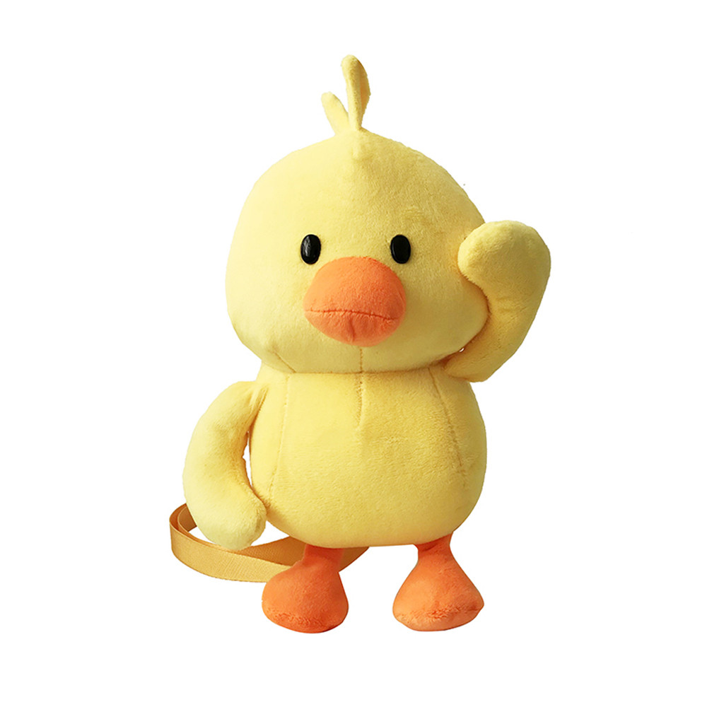 Cute Girl Duck-Like Plush Weird Zipper Coin Purses For Kids Students case Cartoon Wallet Bag Pouch Children Shoulder Bags #T10P(China)