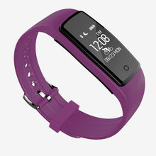 2017 High Quality Dynamic Heart Rate Monitor S1 Smart Bracelet Health Wrist Band with APP Multi Language Compatible IOS Android