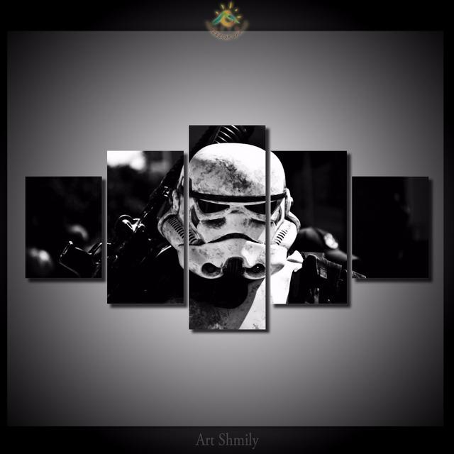 Star Wars White Army Modern Canvas