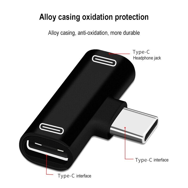 Jack Earphone Charging Converter USB Type-C Audio Adapter 1
