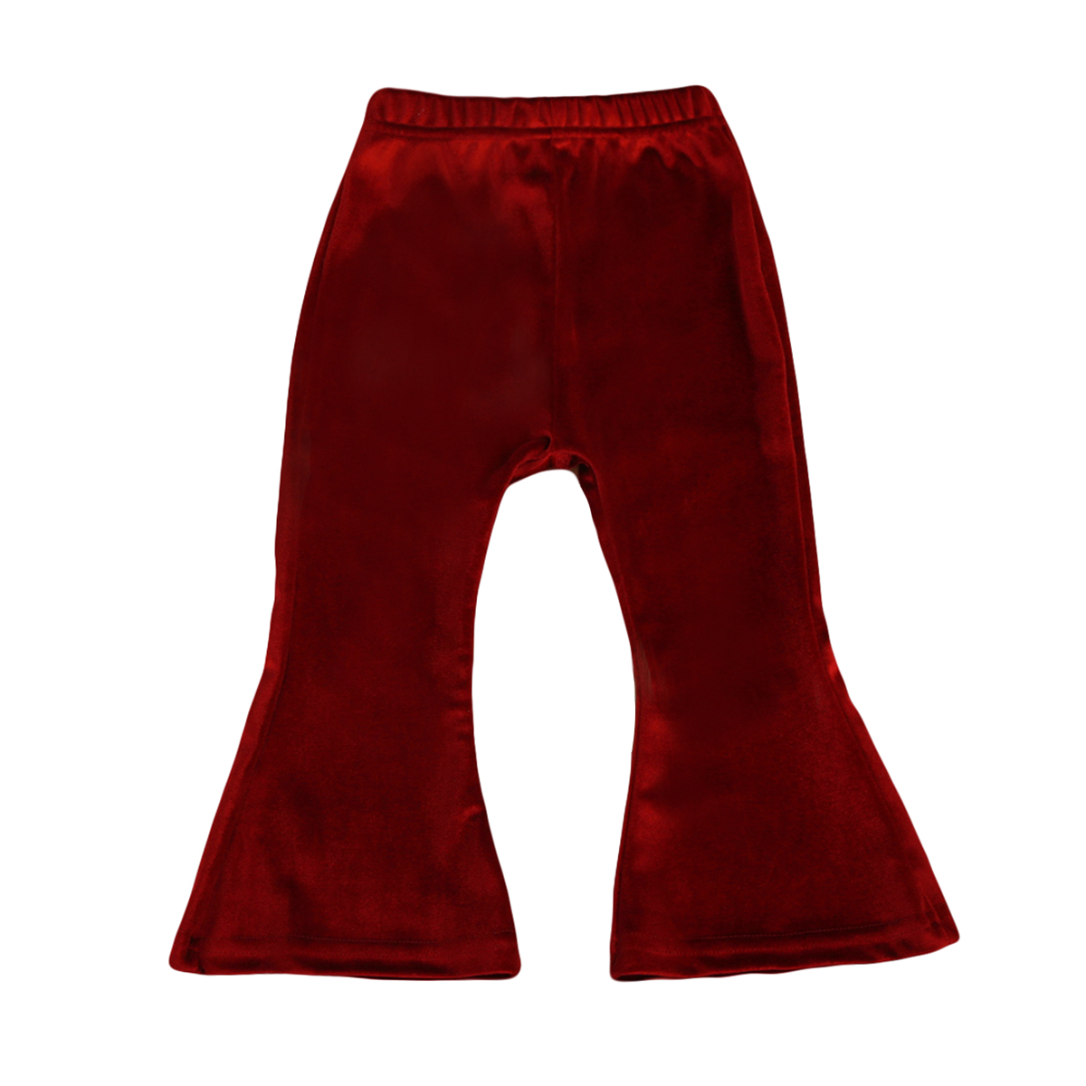 2colors Boho Pants Fashion Bell Bottom Wide Leg Flare Stretch Pants Kids Baby Girls Trousers