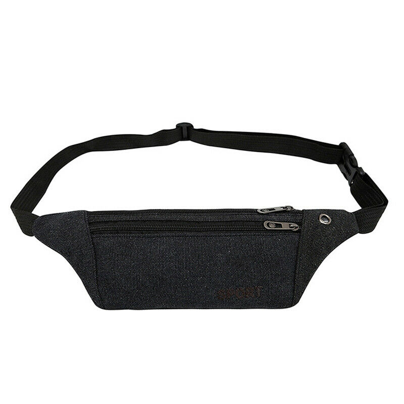 New Vintage Men Outdoor Waist Bag Pack Casual Functional Money Phone Belt Bag Gray Black Women Bag For Belt Canvas Hip Bag Fanny
