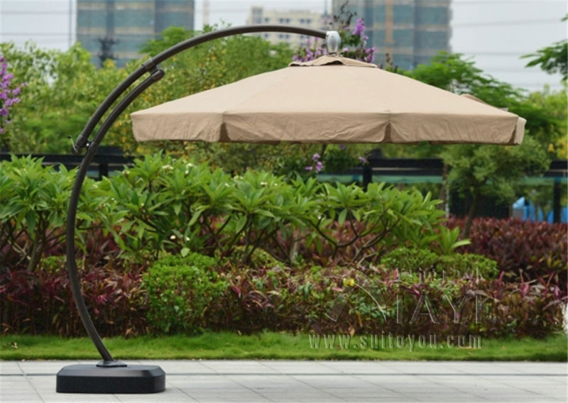 Dia 3.5 meter aluminum deluxe outdoor patio sun umbrella garden parasol sunshade big pole furniture covers with wheels new panda windproof anti uv sun rain flower princess parasol folding umbrella bumbershoot