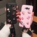 654929af7be 3D lindo oso DIY Candy caso para Samsung Galaxy A7 2018 A8 A6 más A9 Pro  2018 A9 estrella de dibujos animados cordón funda Kawaii suave TPU caso