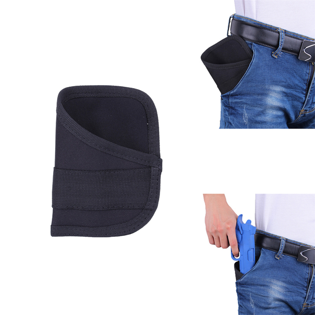 US $6 14 |Ultra Thin Concealed Carry Gun Pocket Holster Pistol Conceal  Protection Pouch Concealment Nylon Inside Pocket Holster-in Holsters from