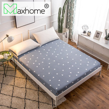 Polyester Fitted Sheet Bed Sheet Mattress Cover Printed Sanding Fabric With Elastic Band Dust Proof 80/90/160x200CM